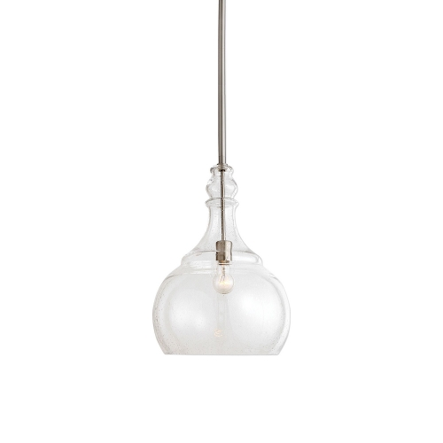 Ilona Light Teardrop Pendant - Seeded Glass