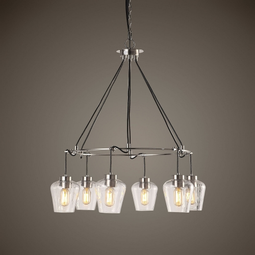 Akron Nickel 6 Light Pendant