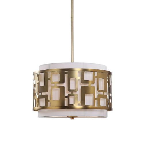 Vecta 3 Light Pendant - Brass