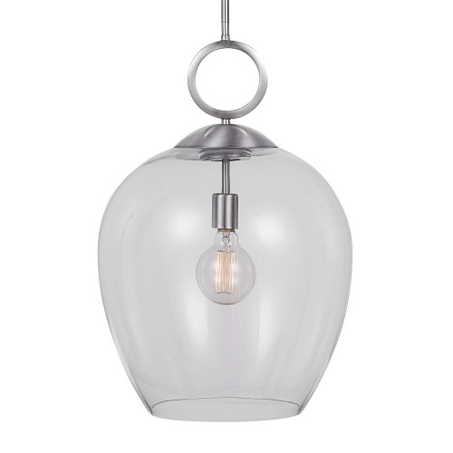 Calix 1 Light Glass Pendant - Nickel