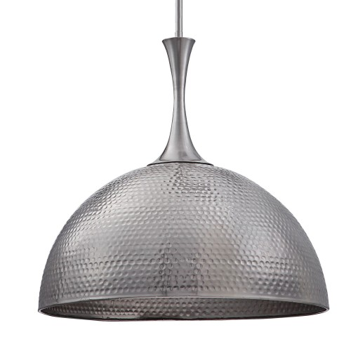 Raynott Nickel 1 Light Dome Pendant