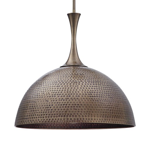 Raynott Brass 1 Light Dome Pendant