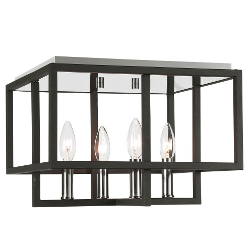 Quadrangle 4 Light Flush Mount