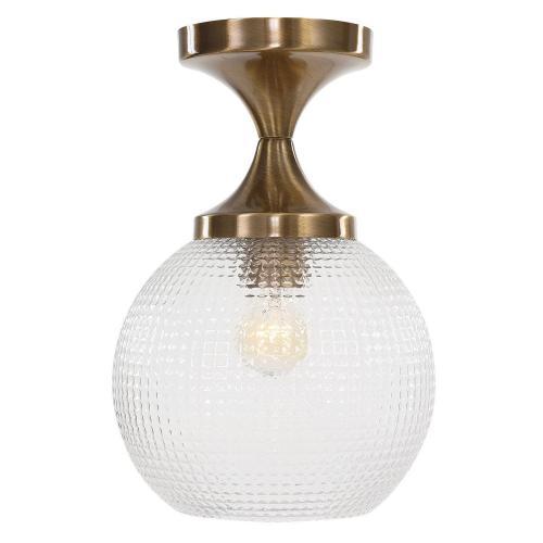 Bolla 1 Light Pattern Glass Semi Flush Mount