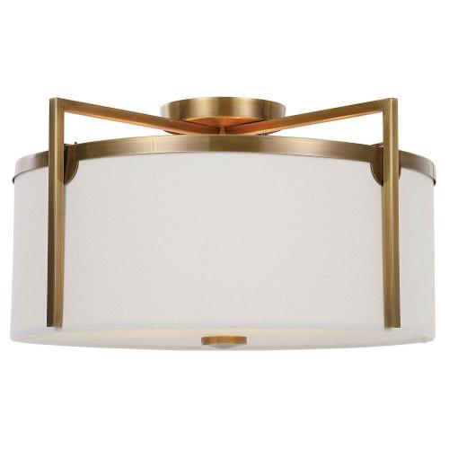 Colfax 3 Light Semi Flush - Brass