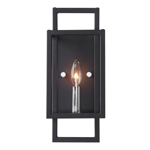 Quadrangle 1 Light Sconce - Black