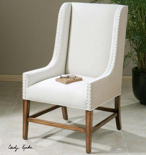 Dalma Linen Wing Chair