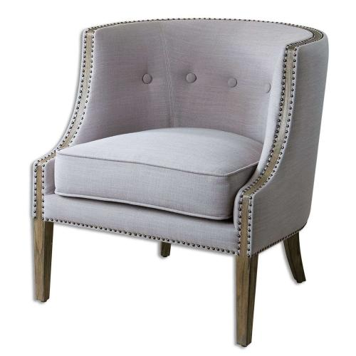 Gamila Accent Chair - Light Gray