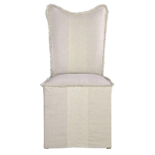 Lenore Armless Chairs Flax - Set of 2
