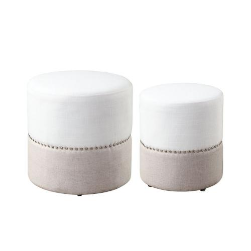 Tilda Two-Toned Nesting Ottomans - Set of 2