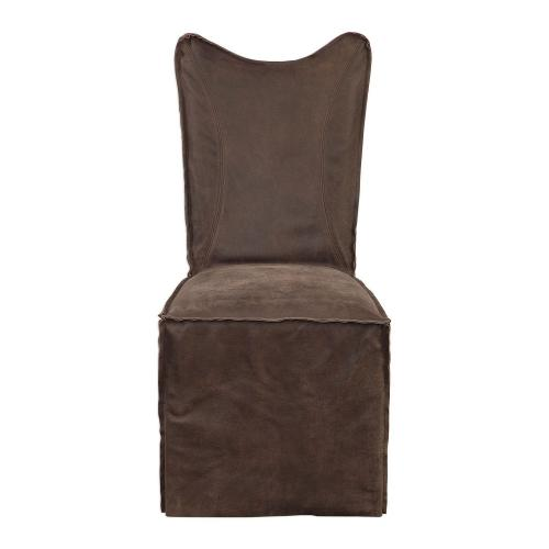 Delroy Armless Chairs - Set of 2 - Chocolate