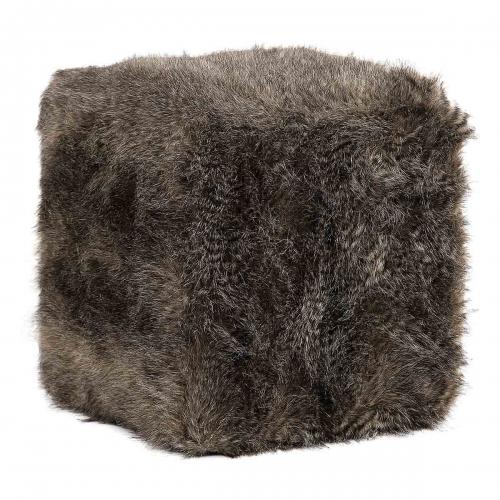 Jayna Fur Ottoman