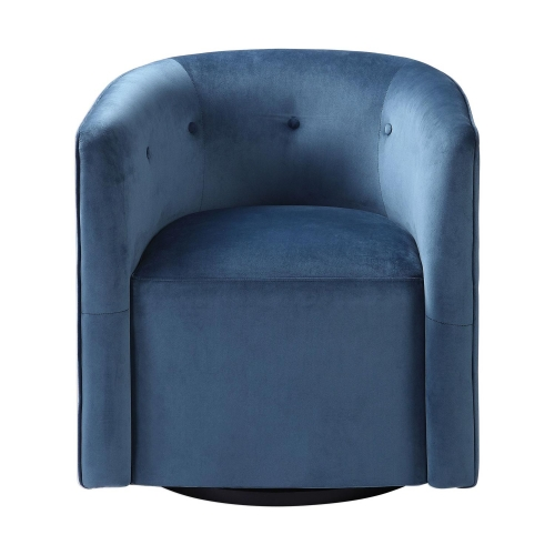 Mallorie Swivel Chair - Blue