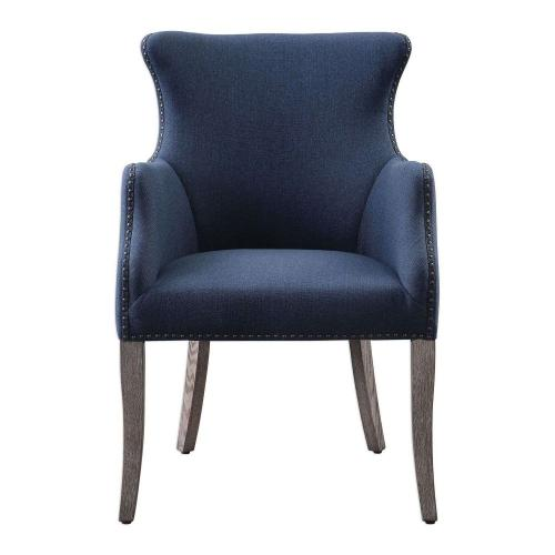 Yareena Wing Chair - Blue
