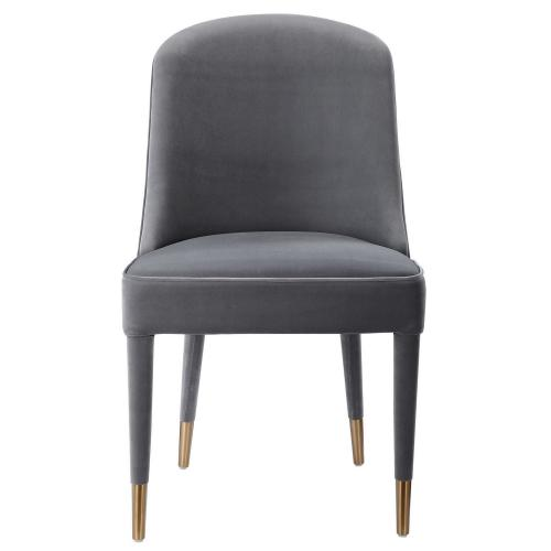 Brie Armless Chair - Set of 2 - Gray