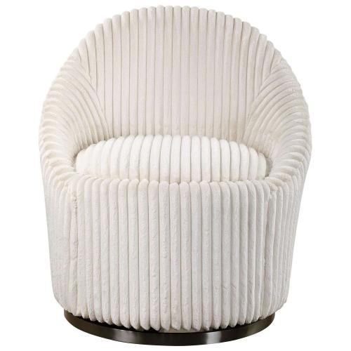 Crue Swivel Chair - White