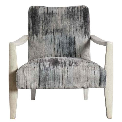 Watercolor Accent Chair - Gray Chenille