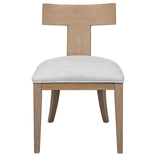 Idris Armless Chair - Natural