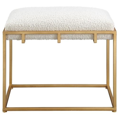 Paradox Small Shearling Bench - Gold/White