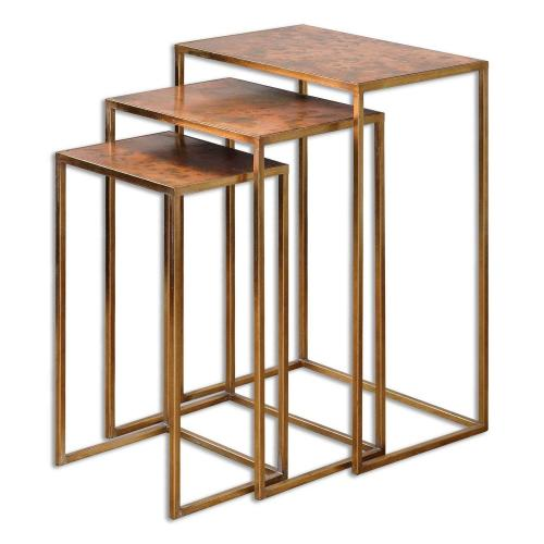 Copres Oxidized Nesting Tables - Set of 3