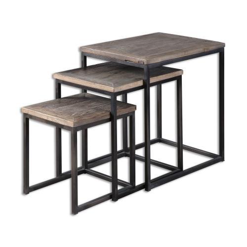 Bomani Wood Nesting Tables - Set of 3