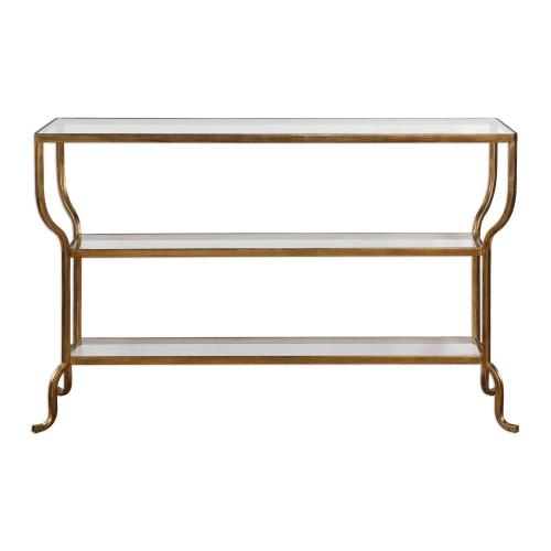Deline Console Table - Gold