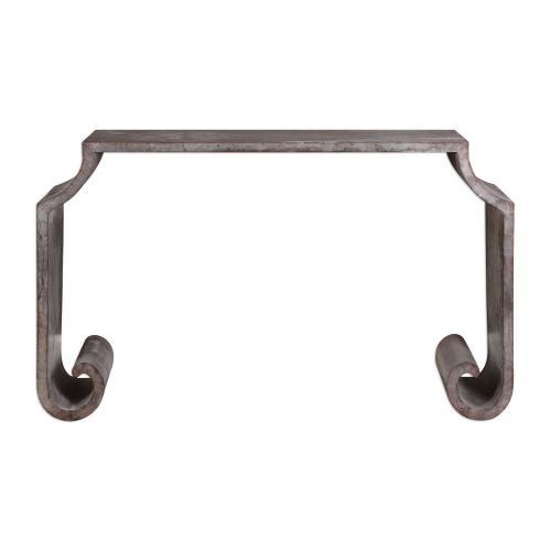 Agathon Console Table - Stone Gray