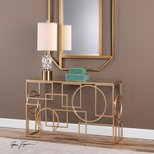 Metria Console Table - Gold