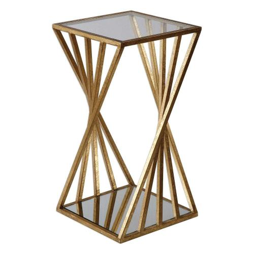 Janina Dimensional Accent Table - Gold