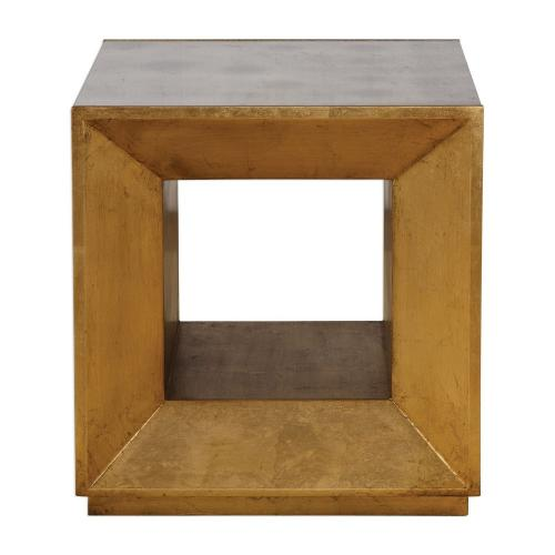 Flair Cube Table - Gold
