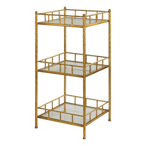Tilly Accent Shelf Table - Gold