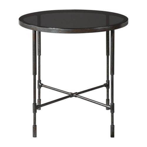 Vande Side Table - Aged Steel