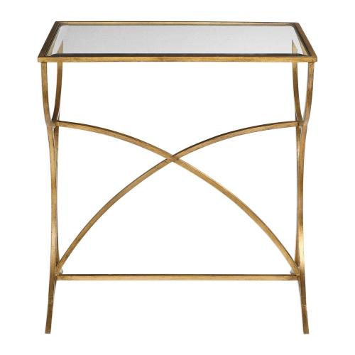 Sarette Accent Table - Antique Gold