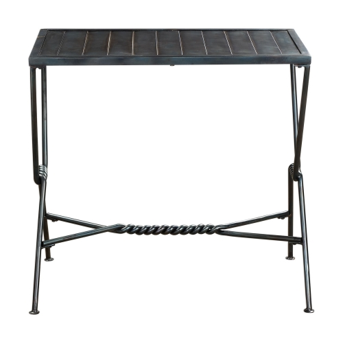 Gauther Accent Table - Aged Steel