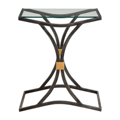 Verino Accent Table - Arched Iron