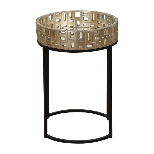 Aven Accent Table - Gold