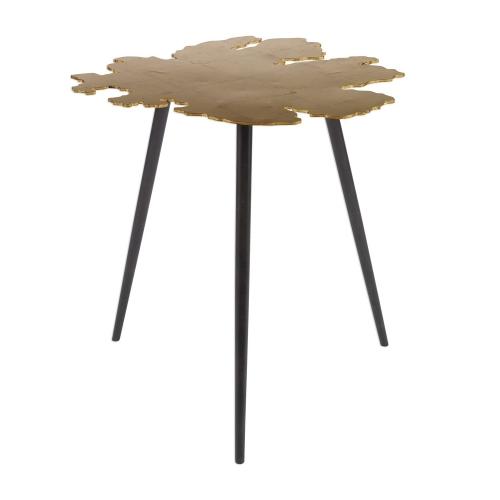 Linden Accent Table - Gold Leaf