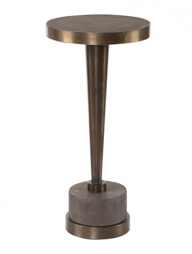 Masika Accent Table - Bronze