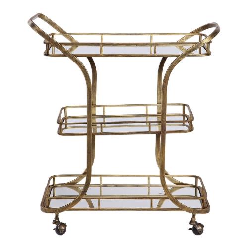 Stassi Serving Cart - Gold