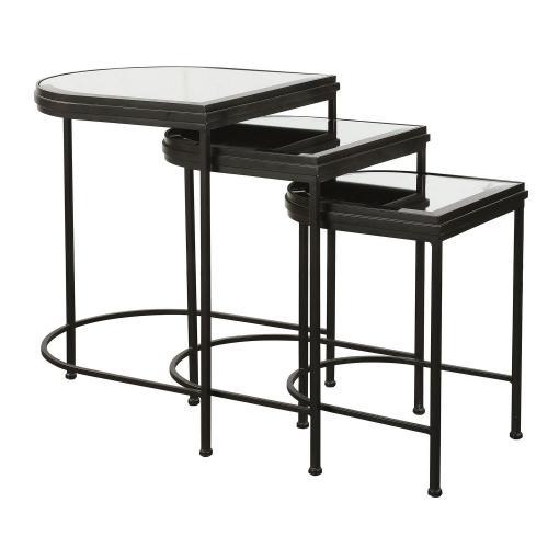 India Nesting Tables - Set of 3 - Black