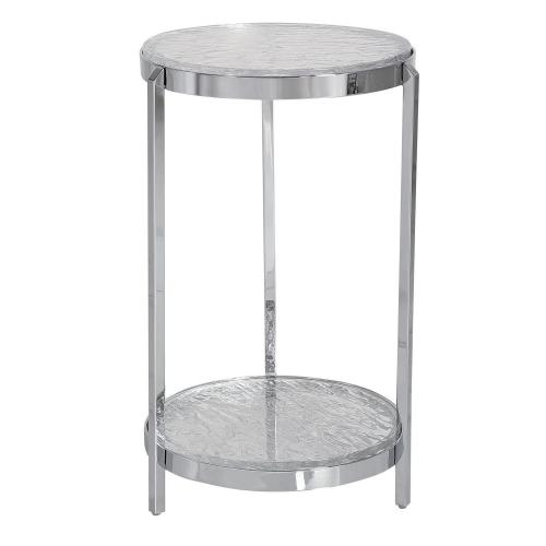 Clarence Accent Table - Textured Glass