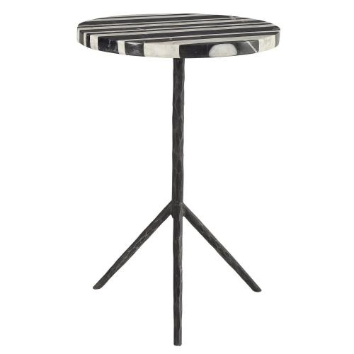 Fine Line Round Accent Table