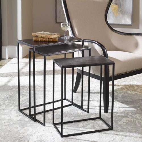 Coreene Iron Nesting Tables - Set of 3