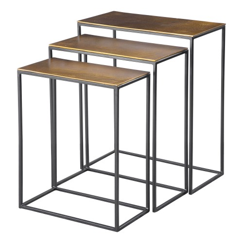 Coreene Nesting Tables - Set of 3 - Gold