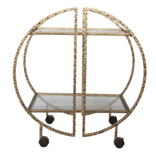 Zelina Bar Cart - Gold