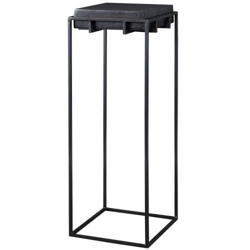 Telone Large Pedestal Table - Black