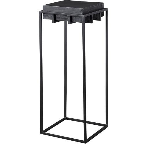 Telone Small Pedestal Table - Black