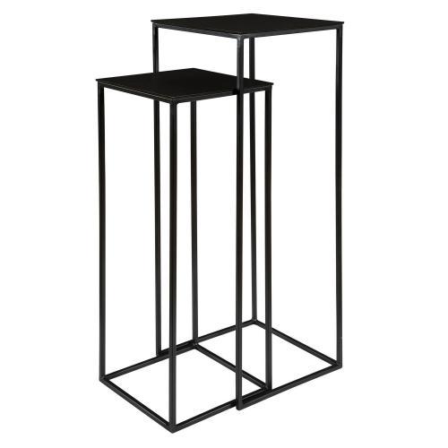 Coreene Nesting Pedestal Tables - Set of 2