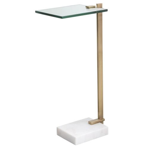 Butler Accent Table - Brass