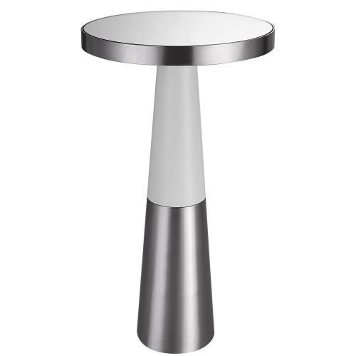 Fortier Accent Table - Nickel